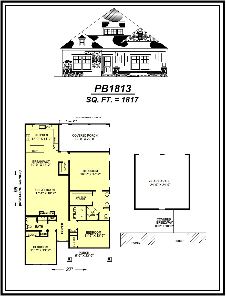 picture of house plan #PB1813