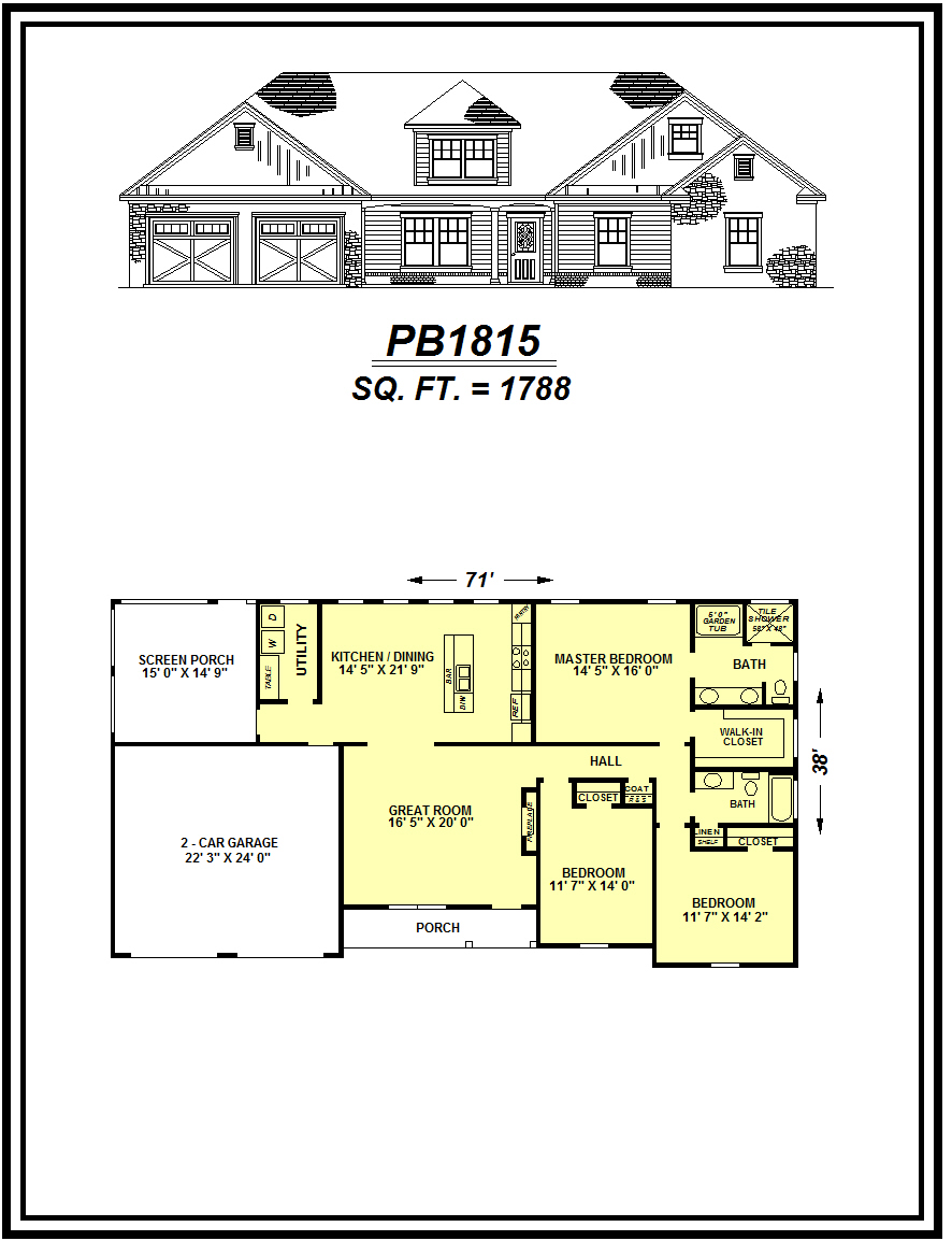 picture of house plan #PB1815