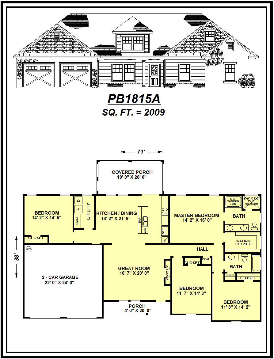 picture of house plan #PB1815A