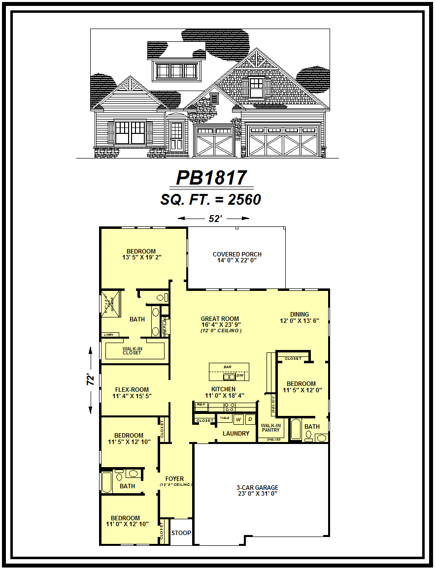 picture of house plan #PB1817
