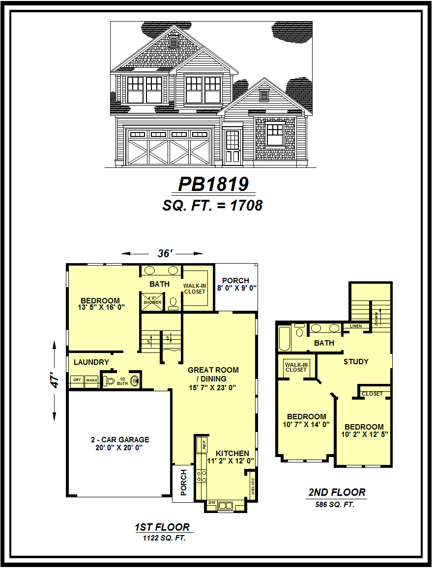 picture of house plan #PB1819