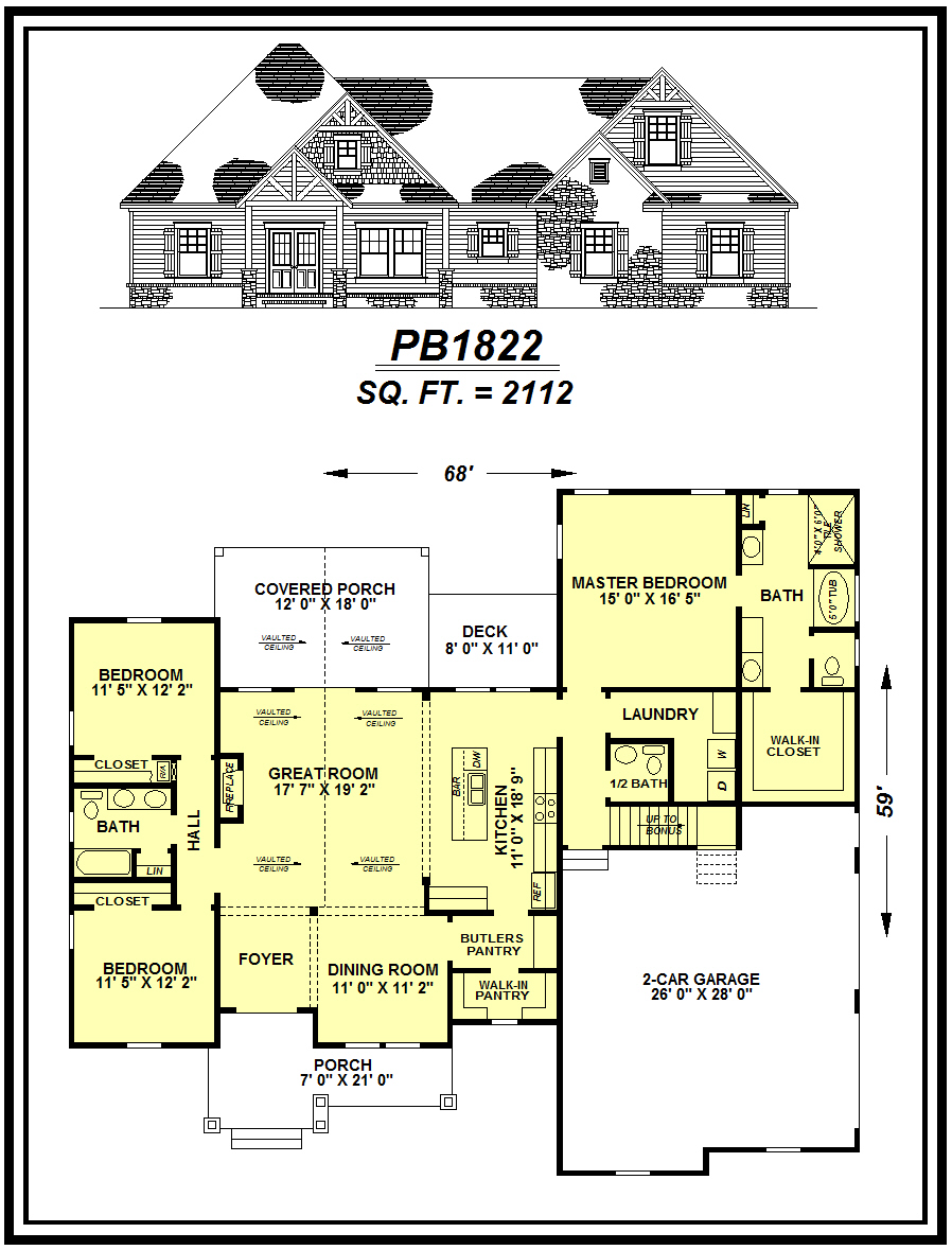 picture of house plan #PB1822