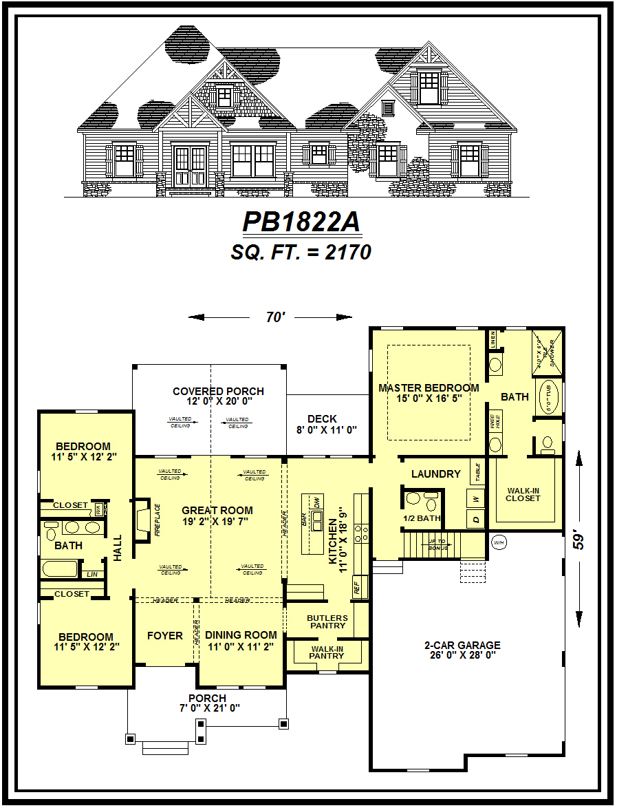 picture of house plan #PB1822A
