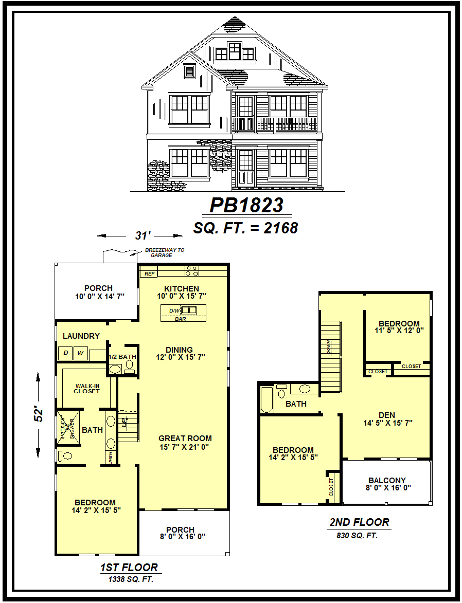 picture of house plan #PB1823