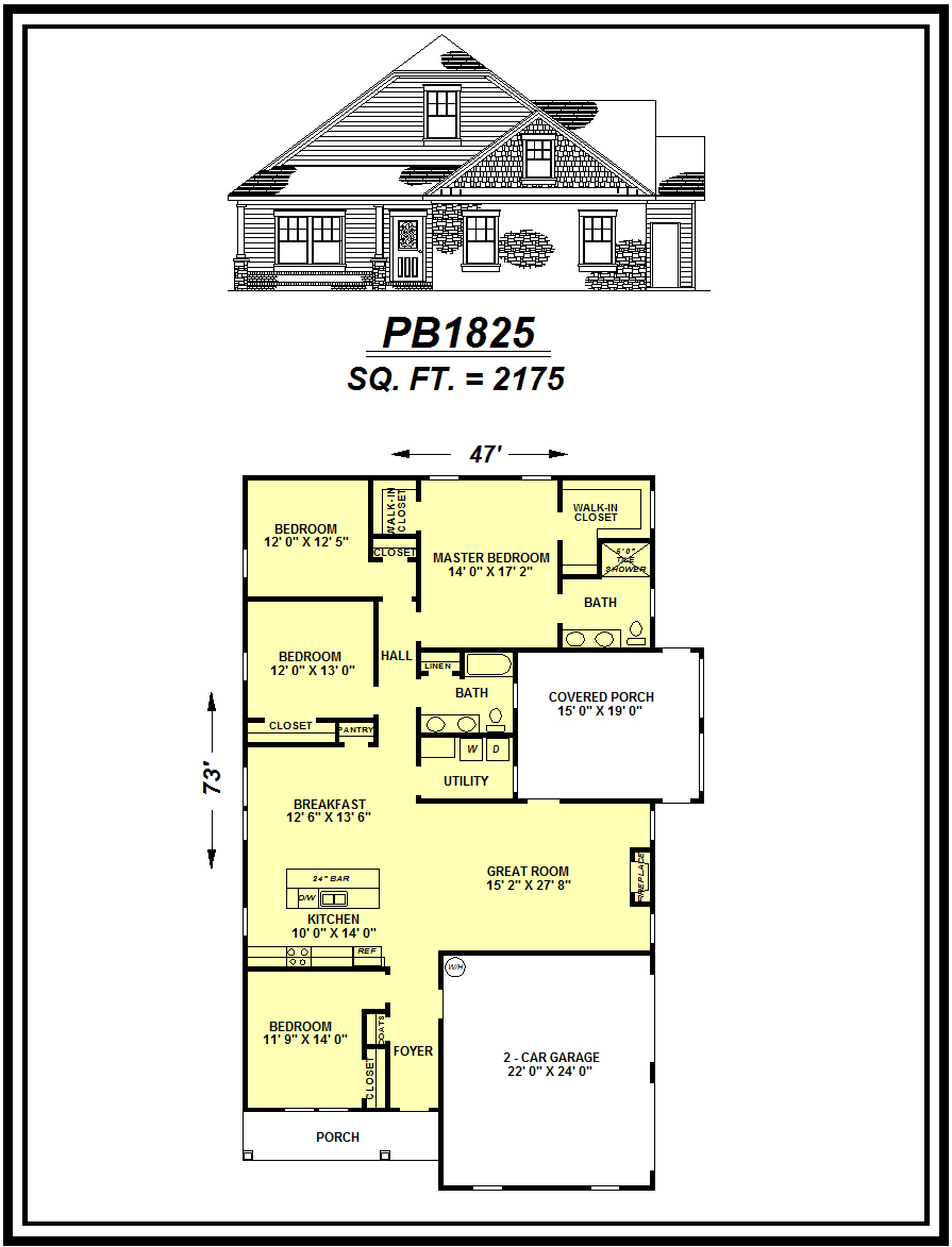 picture of house plan #PB1825