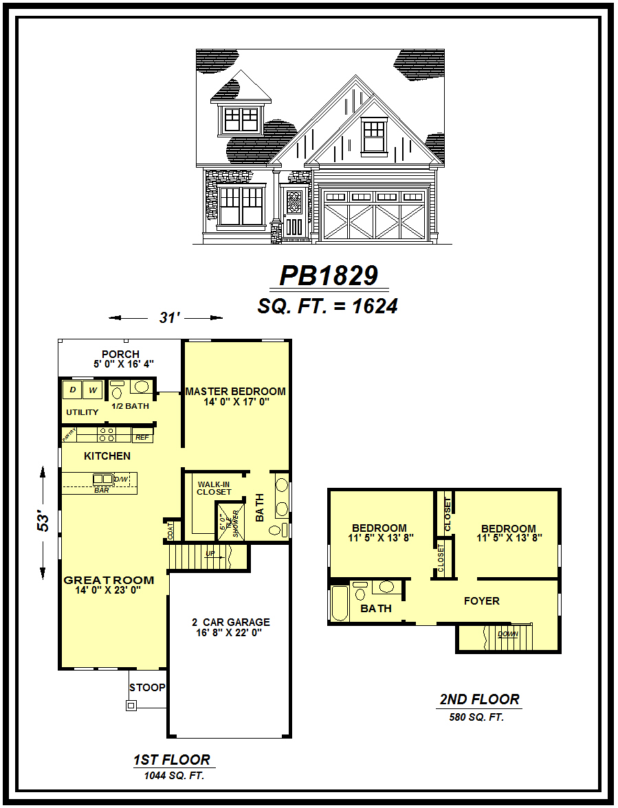 picture of house plan #PB1829