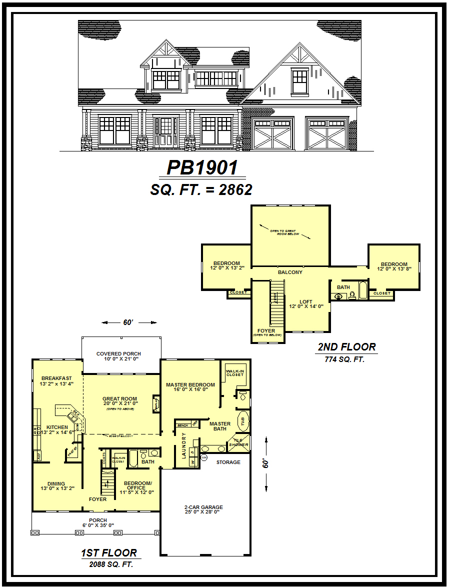 picture of house plan #PB1901