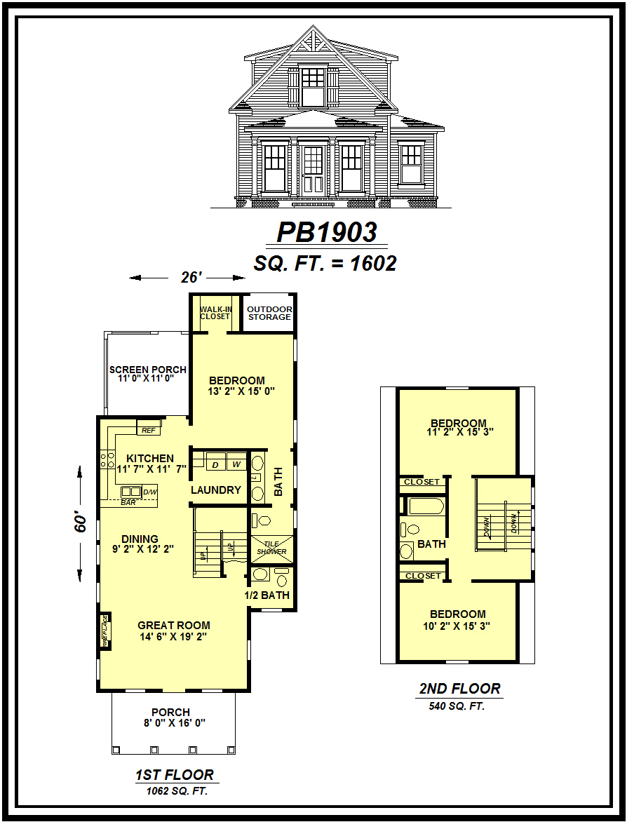 picture of house plan #PB1903