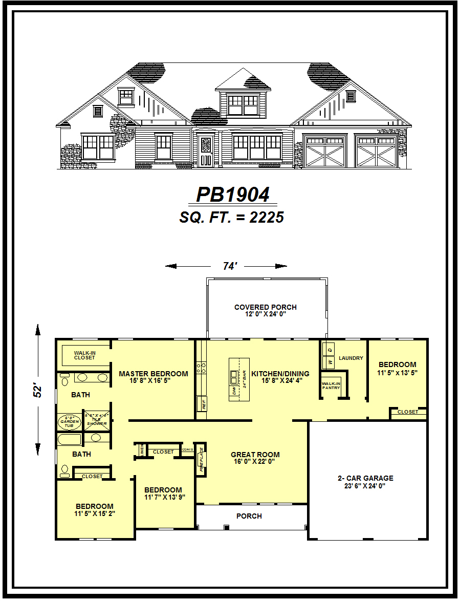 picture of house plan #PB1904