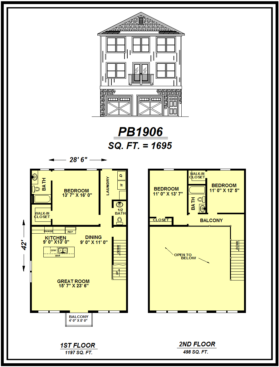 picture of house plan #PB1906