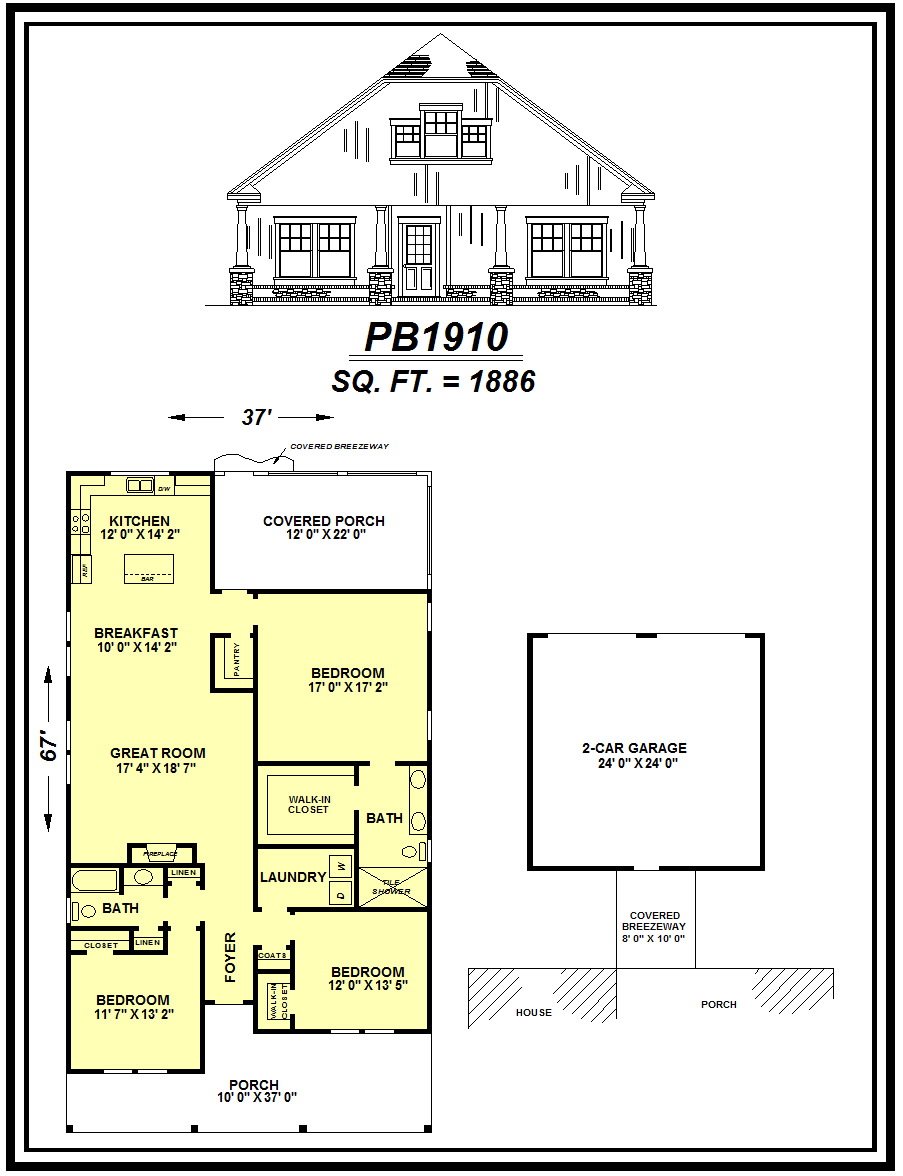 picture of house plan #PB1910