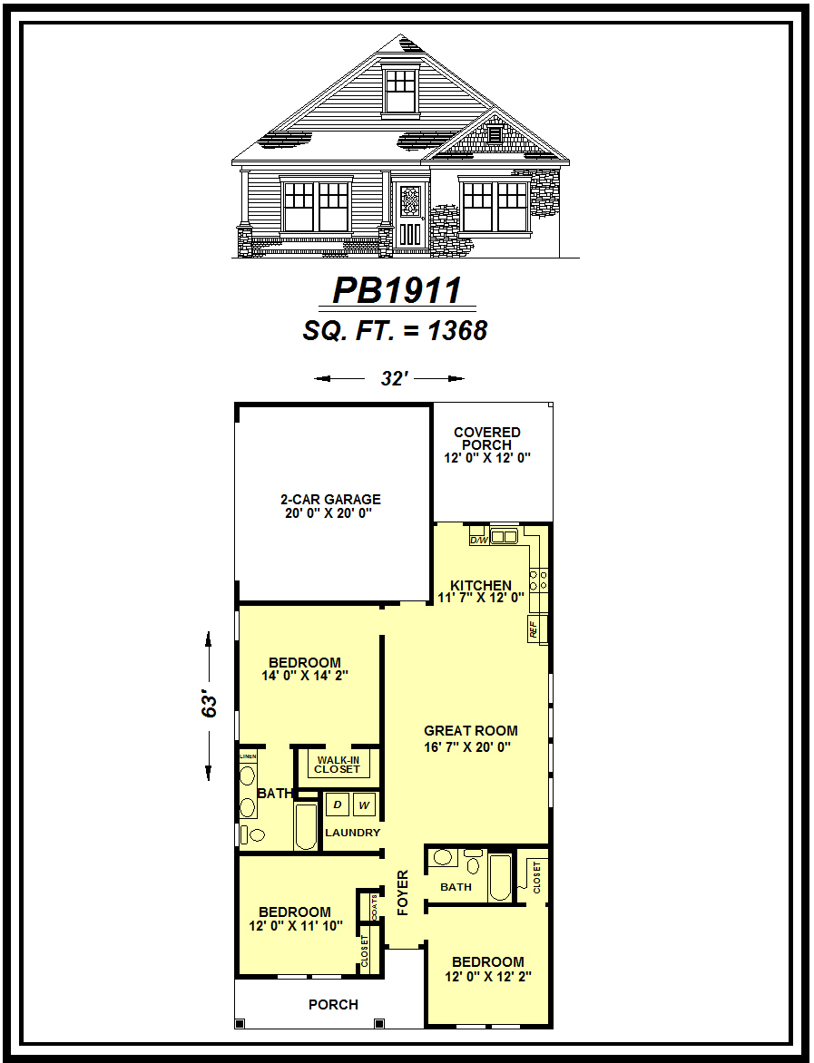 picture of house plan #PB1911