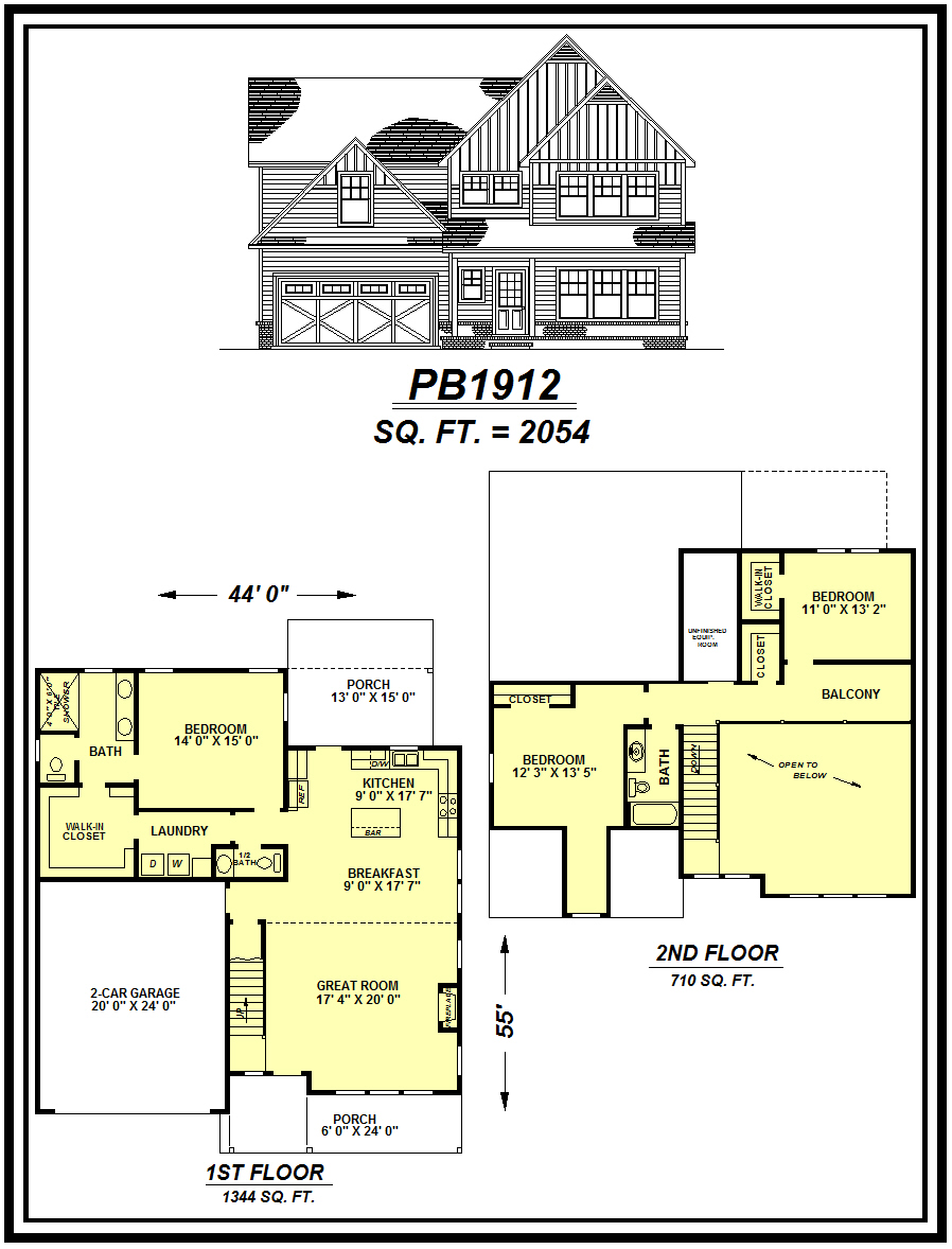 picture of house plan #PB1912