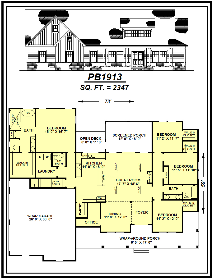 picture of house plan #PB1913
