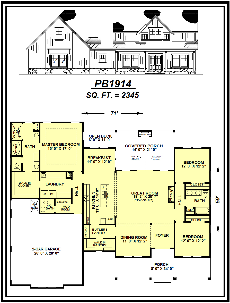 picture of house plan #PB1914