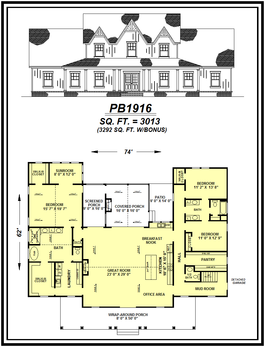 picture of house plan #PB1916