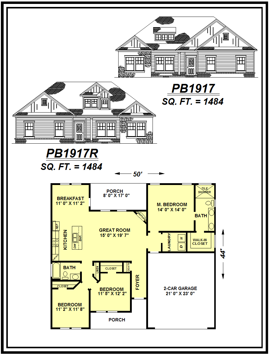 picture of house plan #PB1917