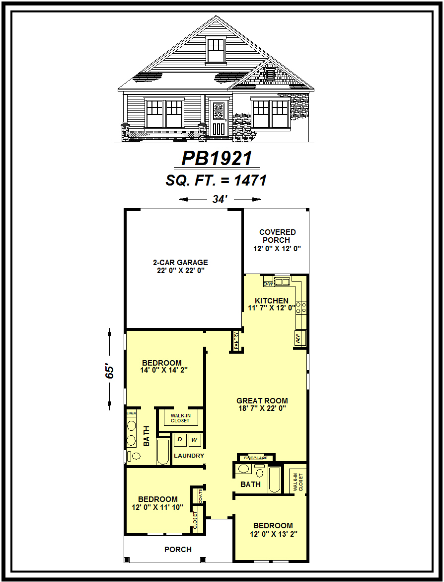 picture of house plan #PB1921