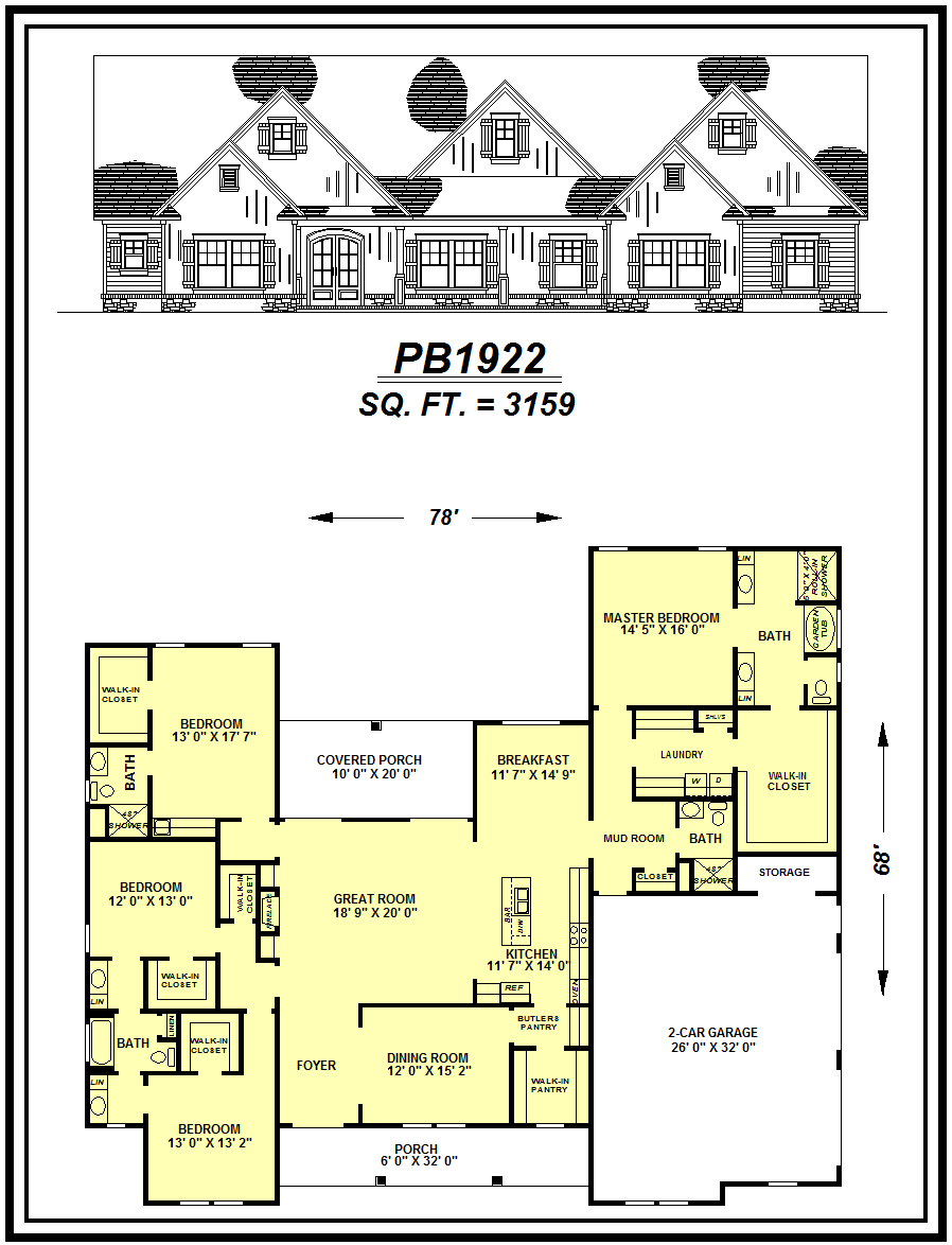 picture of house plan #PB1922