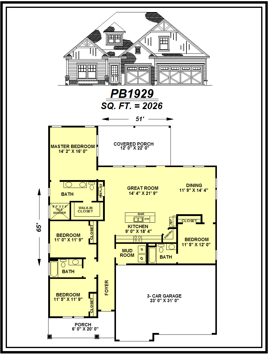picture of house plan #PB1929