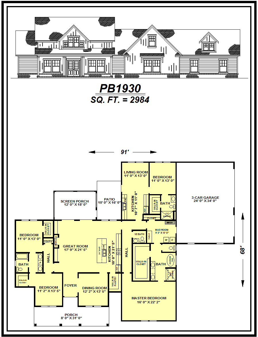 picture of house plan #PB1930