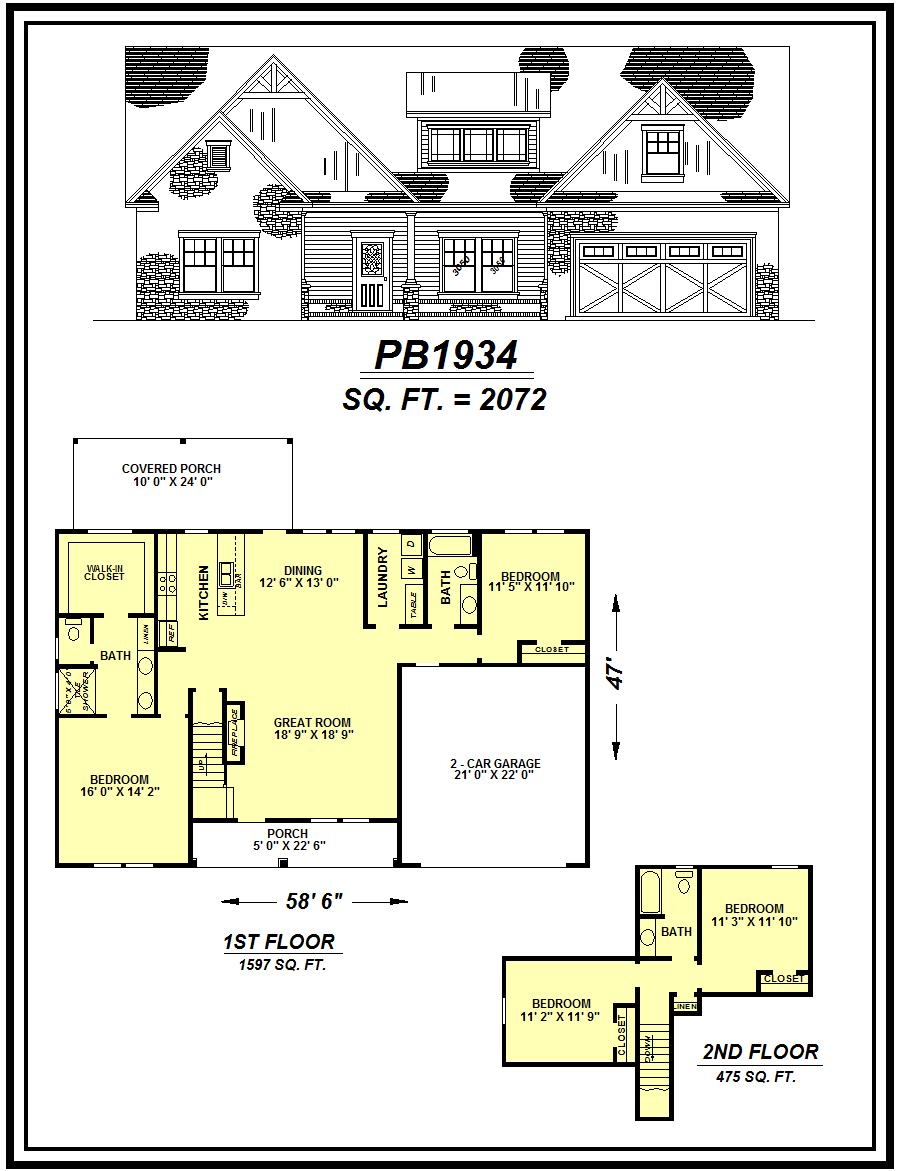 picture of house plan #PB1934