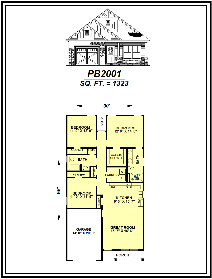 picture of house plan #PB2001