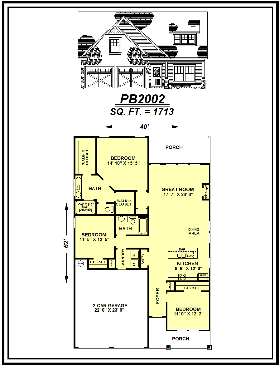 picture of house plan #PB2002
