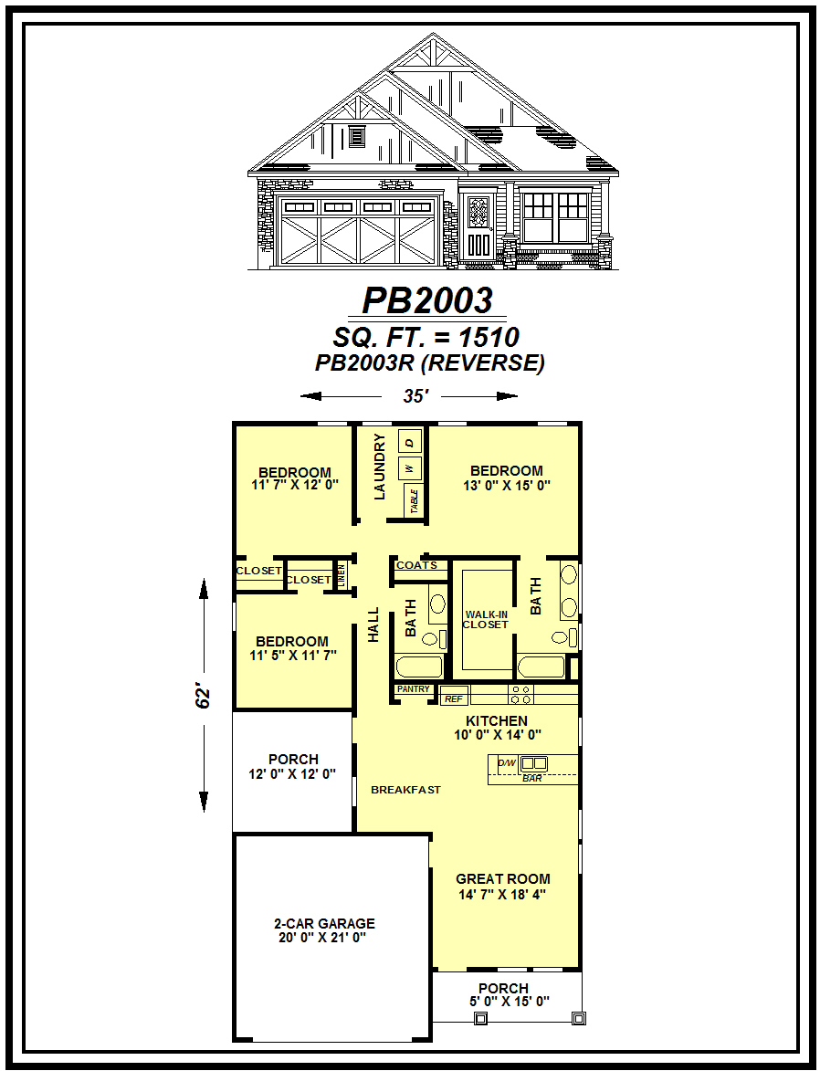 picture of house plan #PB2003