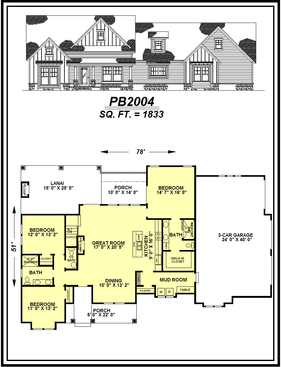picture of house plan #PB2004