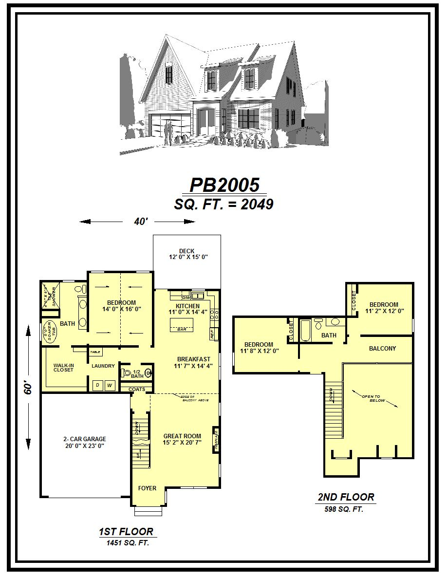 picture of house plan #PB2005