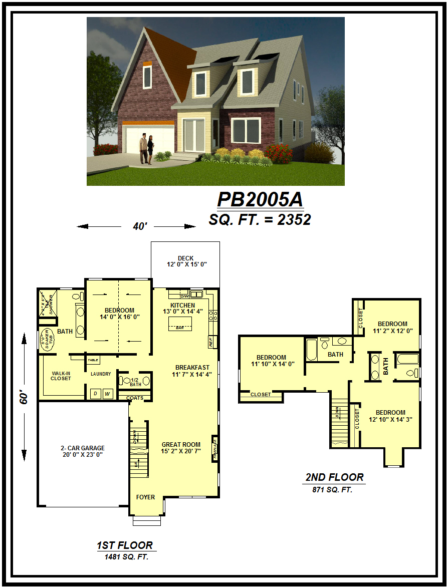 picture of house plan #PB2005A