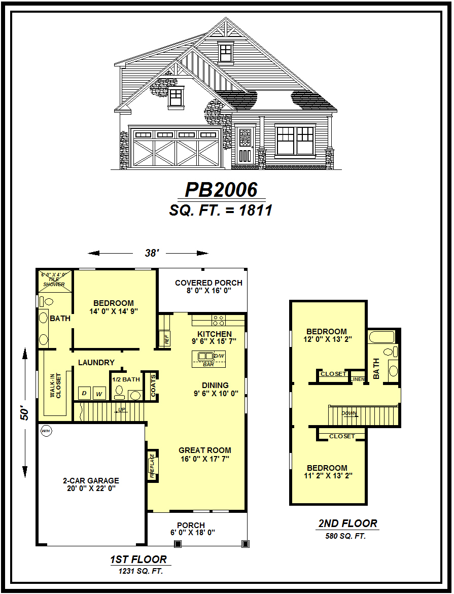 picture of house plan #PB2006