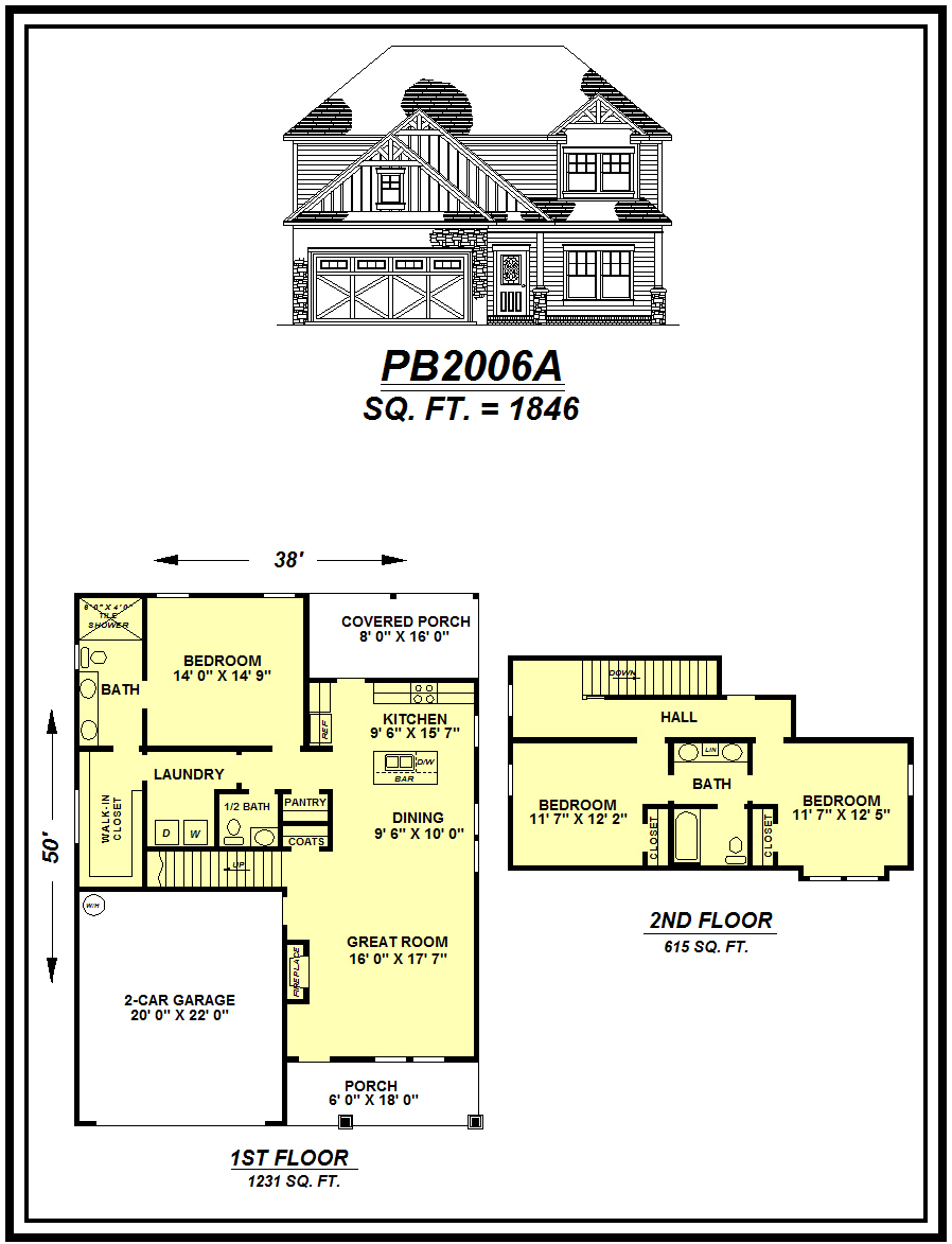 picture of house plan #PB2006A