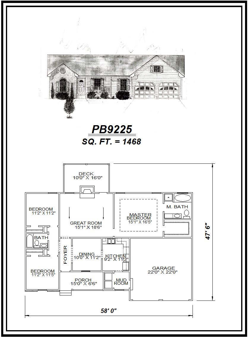 picture of house plan #PB9925