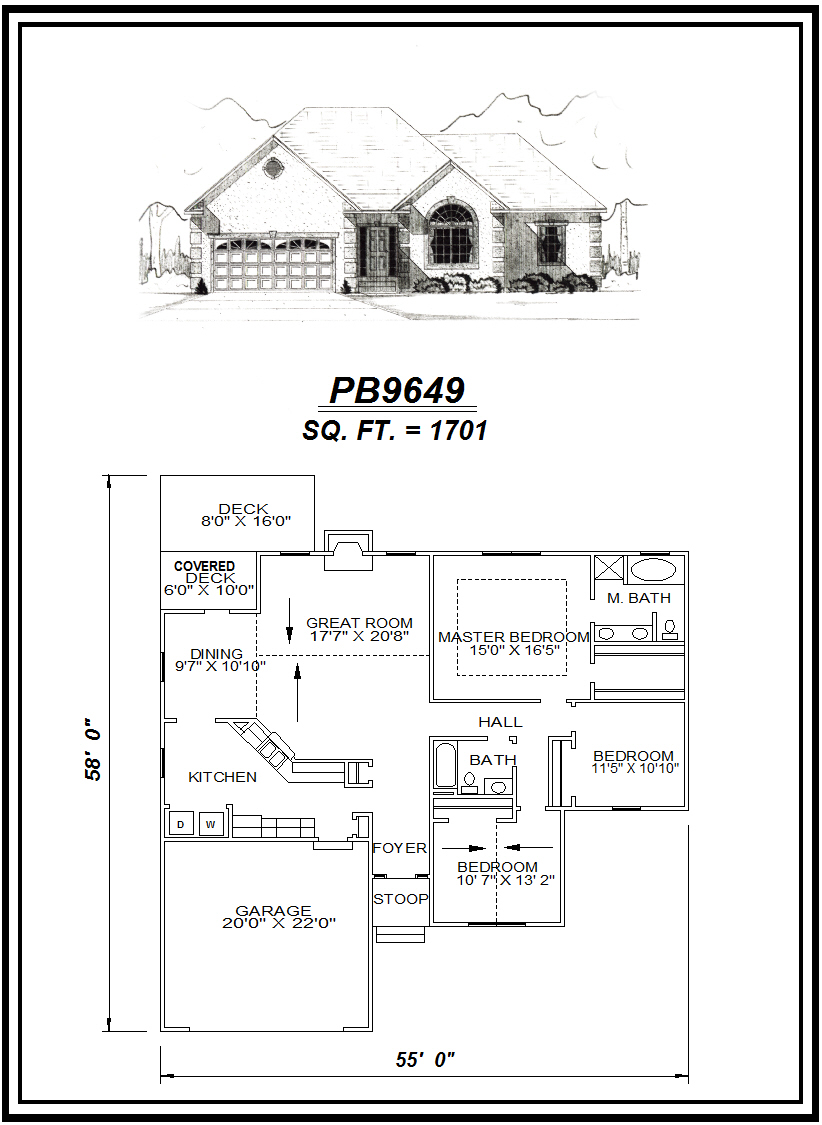 picture of house plan #PB9649