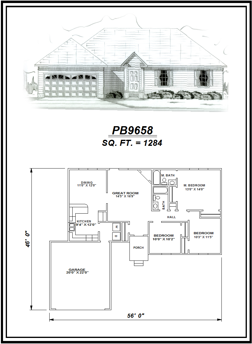 picture of house plan #PB9658