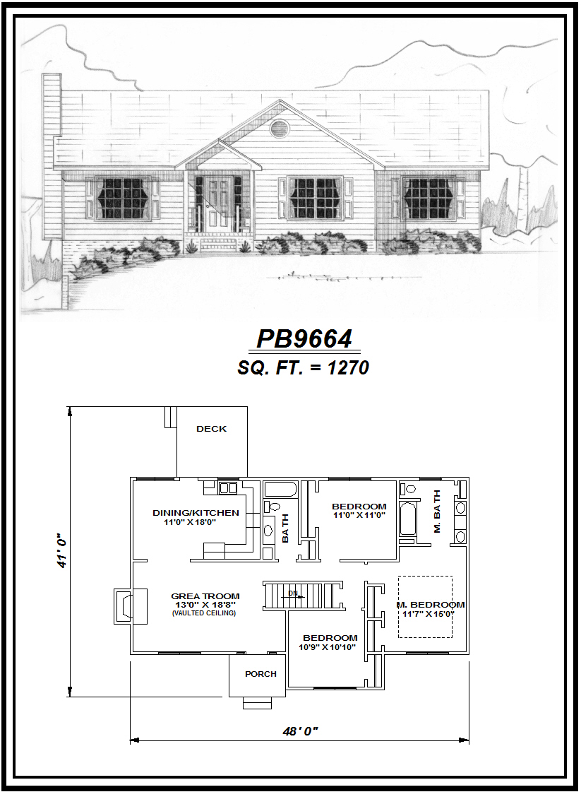 picture of house plan #PB9664