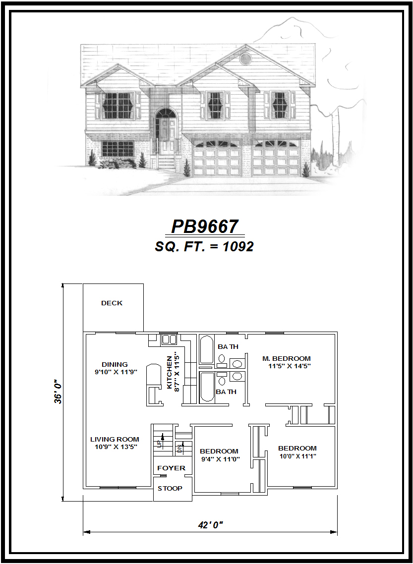 picture of house plan #PB9667