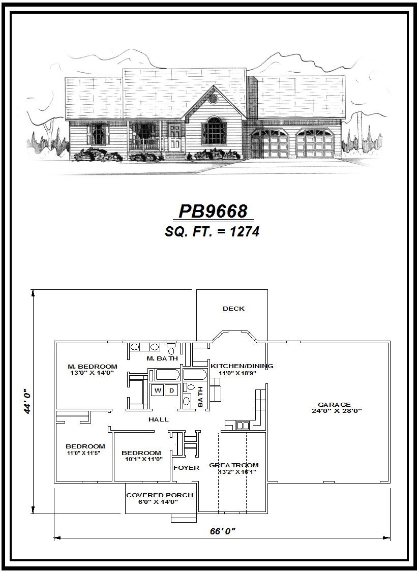 picture of house plan #PB9668