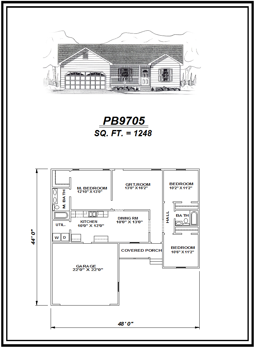 picture of house plan #PB9705