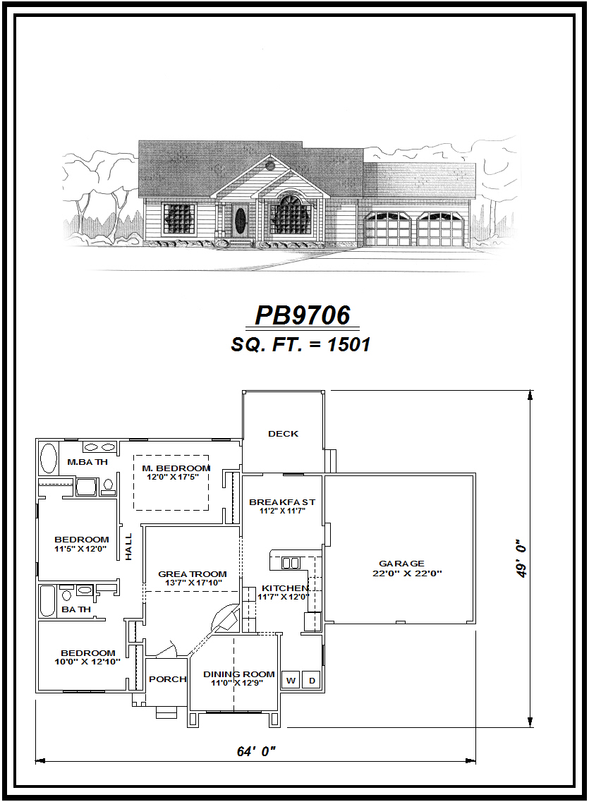 picture of house plan #PB9706