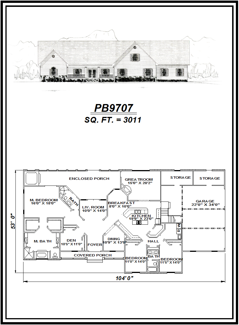 picture of house plan #PB9707