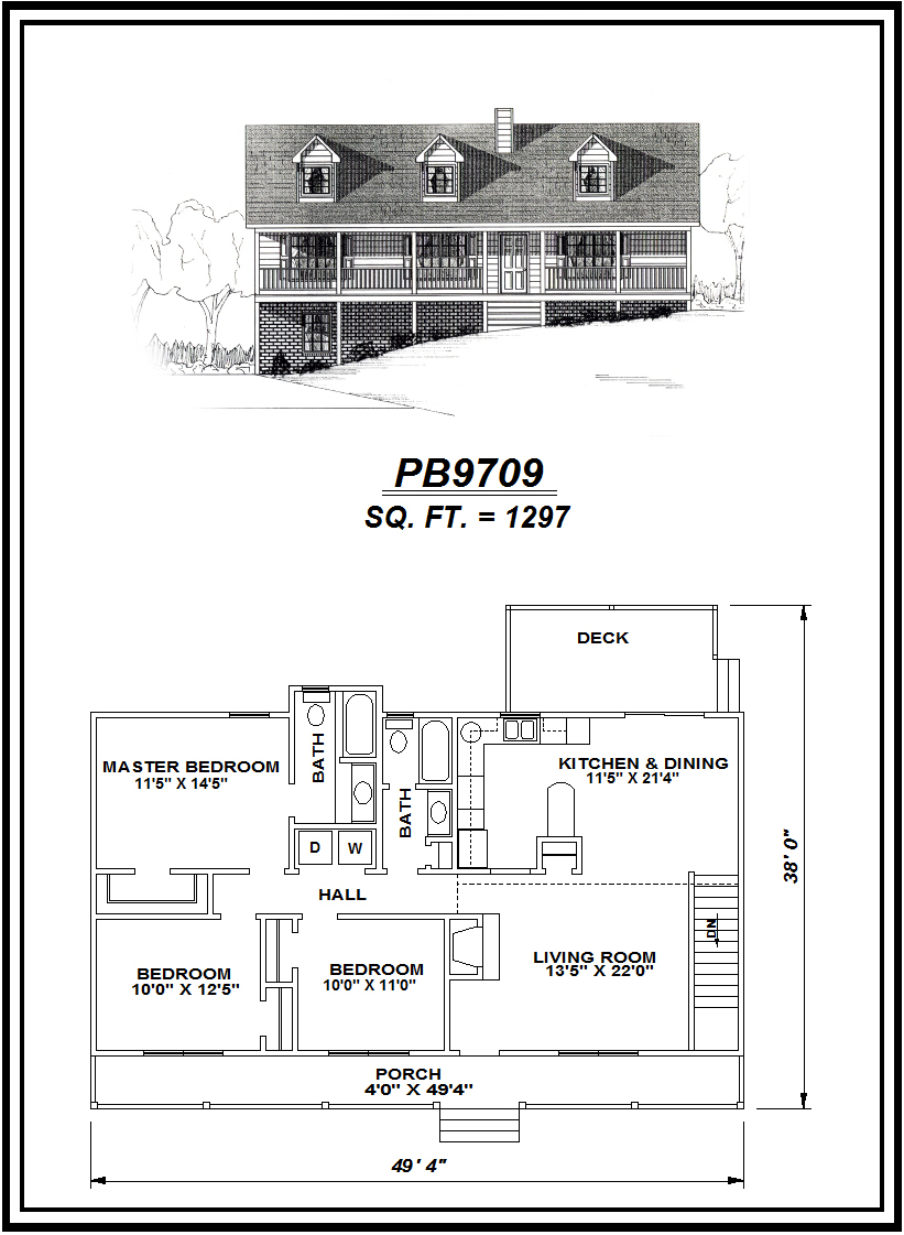picture of house plan #PB9709