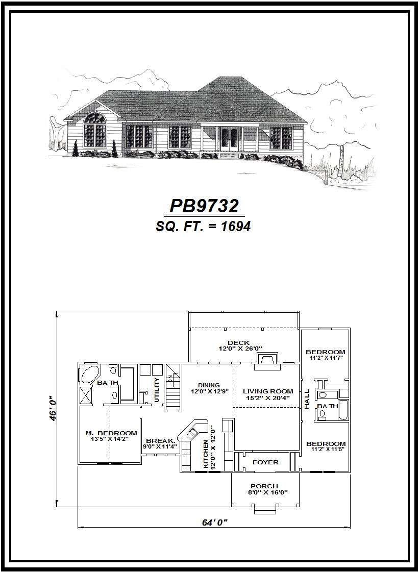 picture of house plan #PB9732