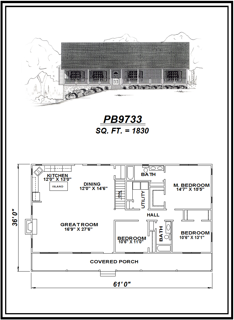 picture of house plan #PB9733