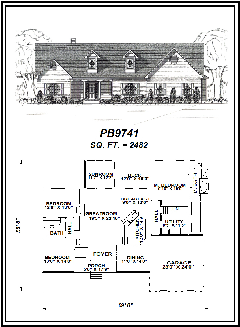 picture of house plan #PB9741