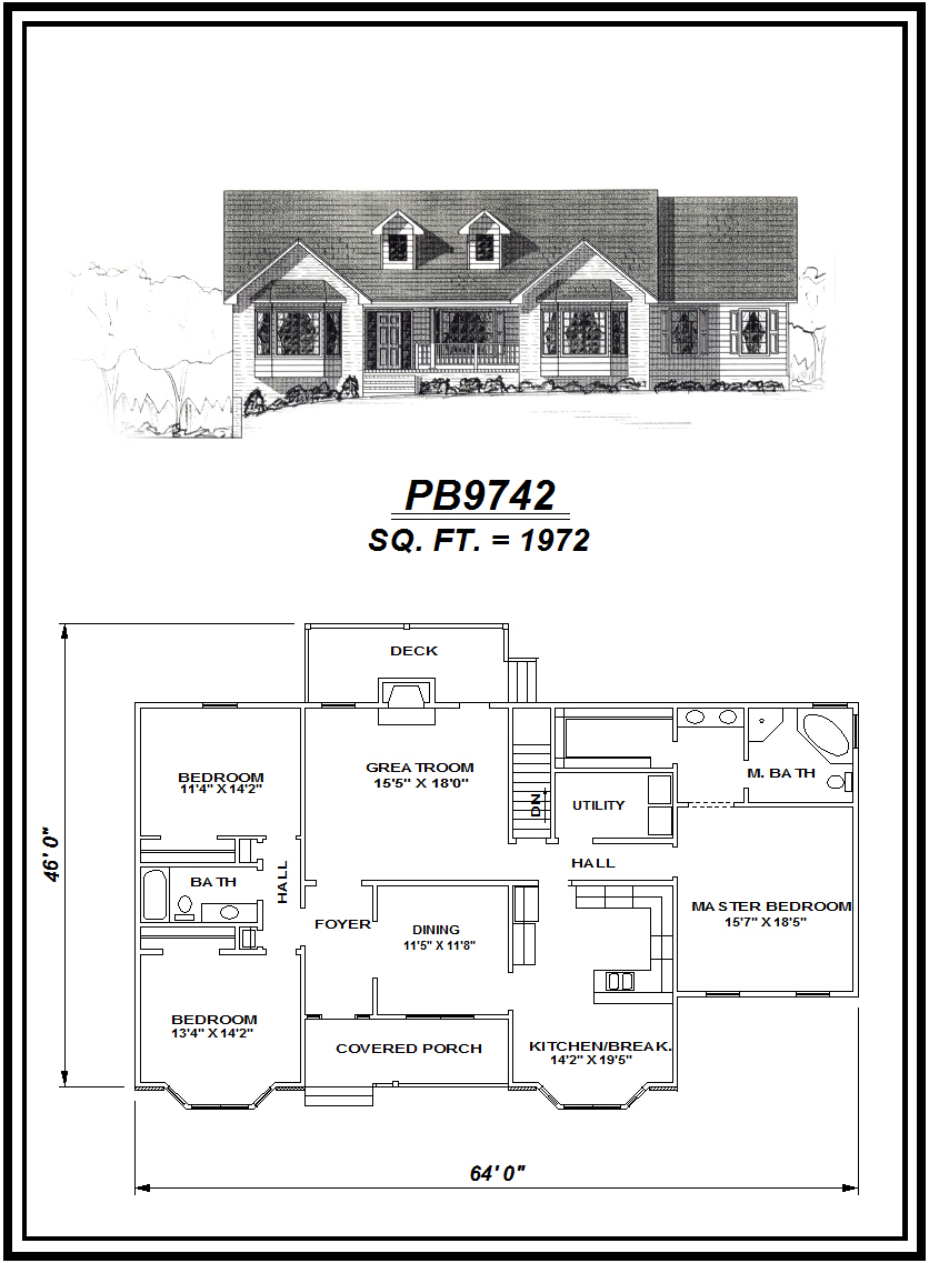picture of house plan #PB9742