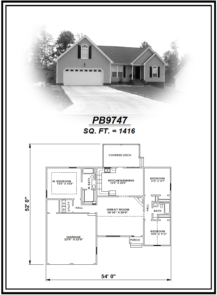 picture of house plan #PB9747