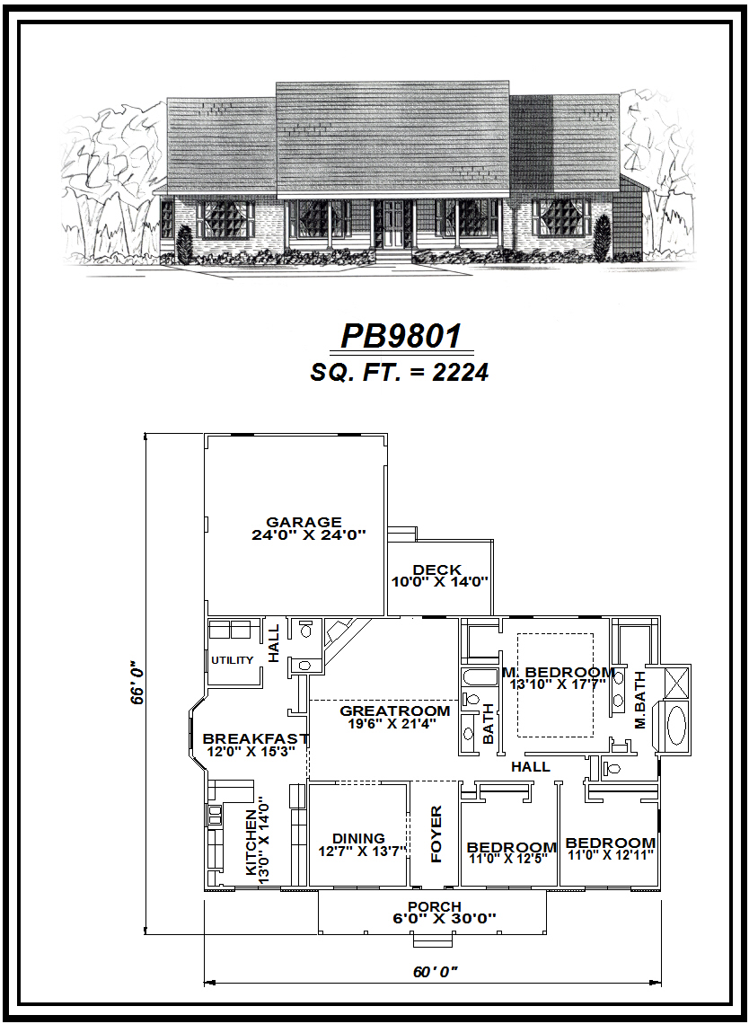 picture of house plan #PB9801